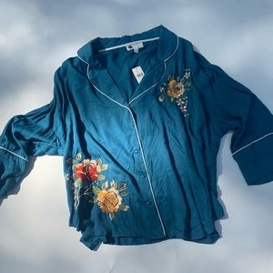 NWT Anthropologie embroidered top
